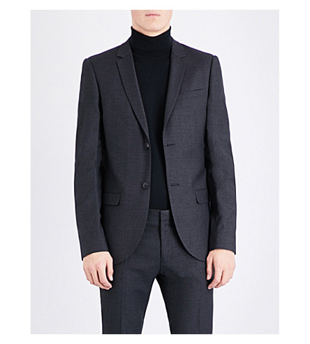 TOPMAN Ultra skinny-fit suit jacket (Dark+grey