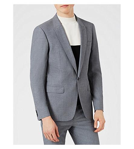TOPMAN Skinny-fit woven blazer (Mid+blue
