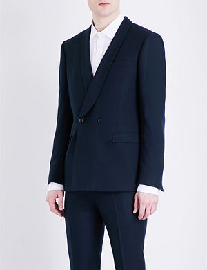 TOPMAN Double-breasted skinny-fit wool jacket