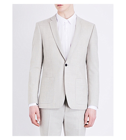 TOPMAN Tolken wool-twill jacket