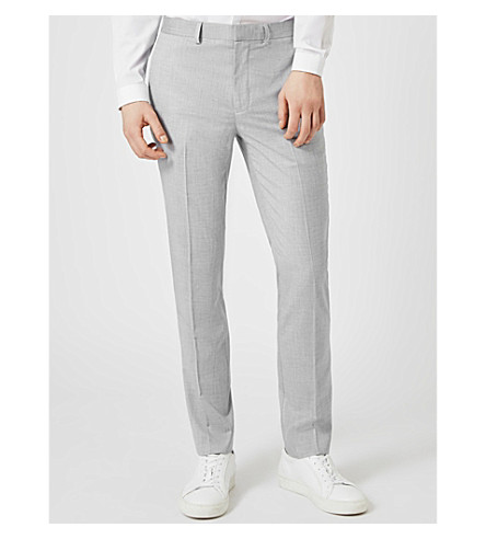TOPMAN Wyatt slim-fit woven trousers (Light+blue