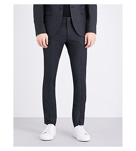 TOPMAN Skinny-fit tapered pants (Dark+grey