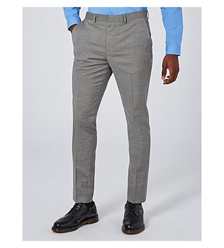 TOPMAN Skinny woven trousers (Mid+grey