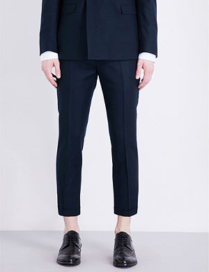 TOPMAN Skinny-fit tapered wool trousers