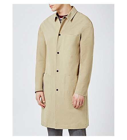TOPMAN Worker cotton mac (Stone