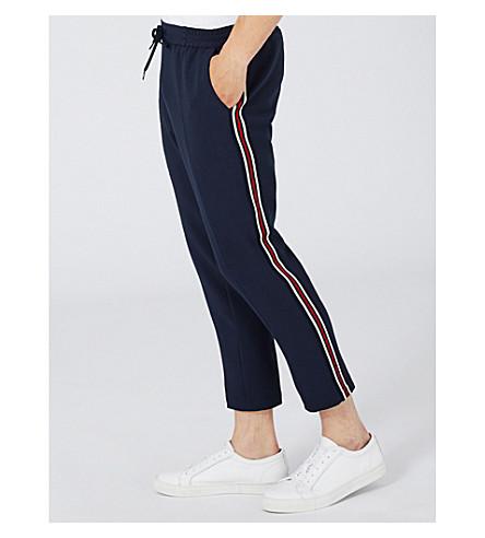 TOPMAN Sidey skinny jersey jogging bottoms (Blue