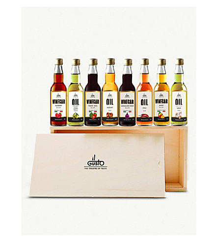 IL GUSTO Miniature oils & vinegars gift set of eight