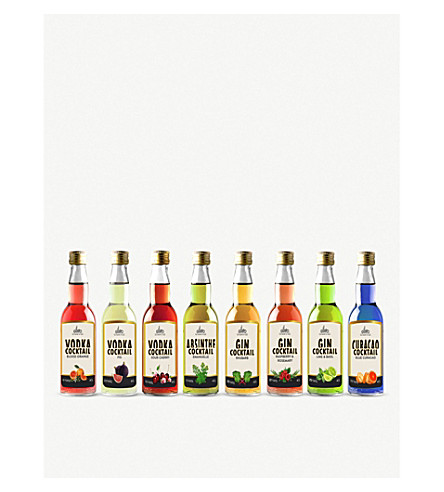 IL GUSTO Miniature Fruity Cocktails & Liqueur gift set 8 x 40ml