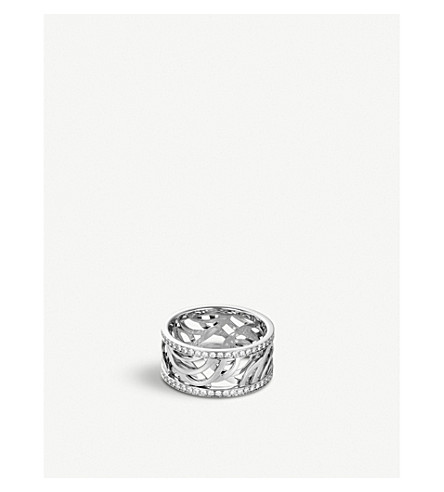 DE BEERS Aria white-gold and diamond ring