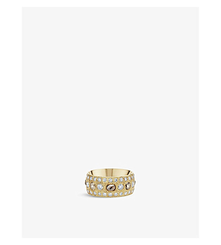 DE BEERS Talisman 18ct yellow-gold and diamond band ring