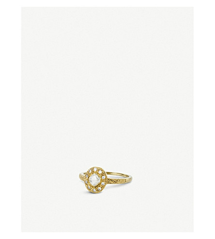 DE BEERS Talisman 18ct yellow-gold and diamond ring