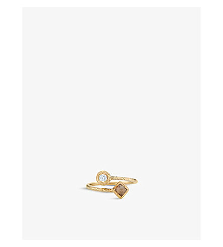 DE BEERS Talisman 18ct gold and diamond ring