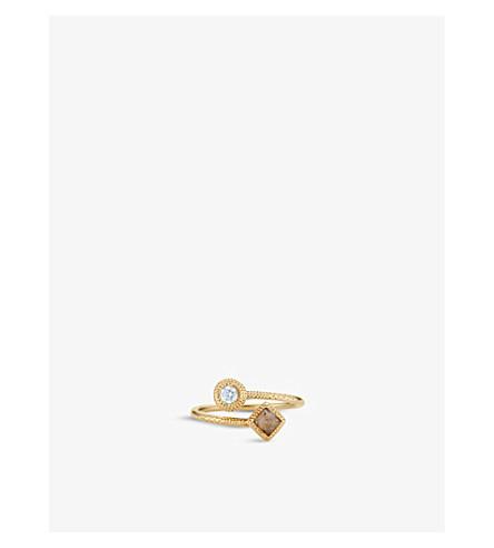 DE BEERS 护身符18ct 金钻石戒指
