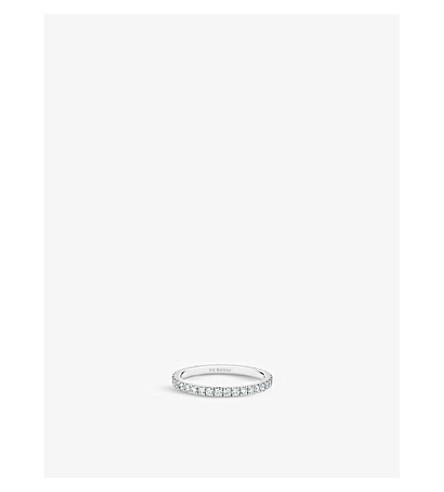 DE BEERS 经典铂和铺金刚石婚礼带