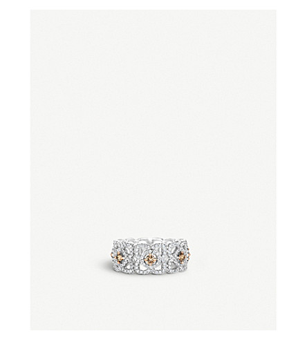 DE BEERS Enchanted Lotus 18ct white-gold and diamond ring