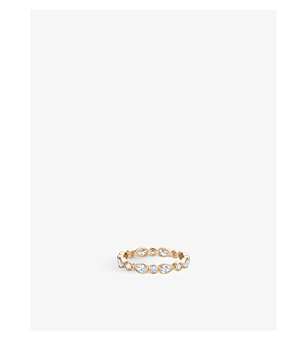 DE BEERS Petal rose-gold and diamond ring