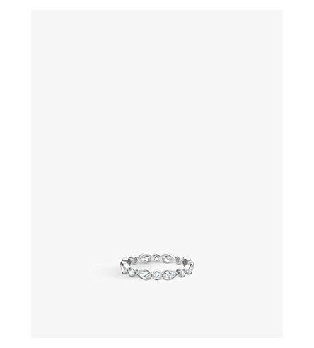 DE BEERS Petal white-gold and diamond ring