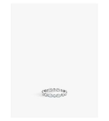 DE BEERS 花瓣白金钻石戒指