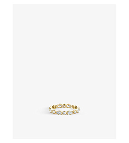 DE BEERS Petal 18ct yellow-gold and diamond ring