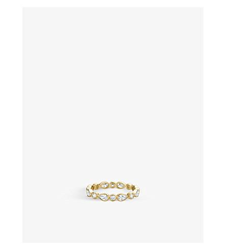 DE BEERS 花瓣18ct 黄金和钻石戒指