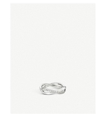 DE BEERS Infinity white-gold and pavé diamond ring