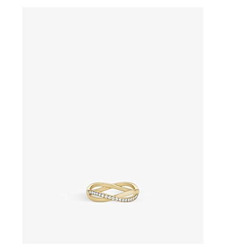 DE BEERS 无穷黄金和铺钻石戒指
