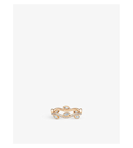 DE BEERS Adonis Rose pink-gold and diamond ring