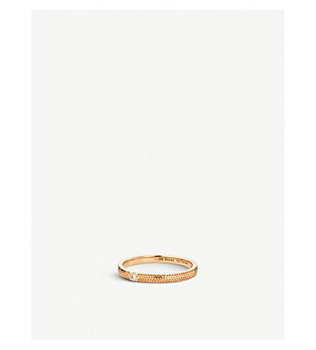 DE BEERS Azulea pink-gold solitaire ring