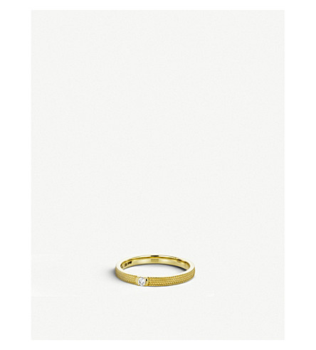 DE BEERS Azulea yellow-gold and diamond ring