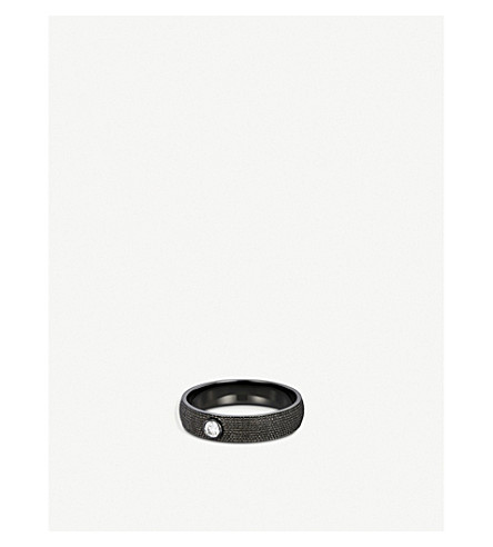 DE BEERS Azulea 黑色-金和钻石戒指, 大