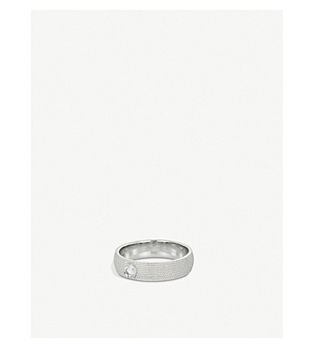 DE BEERS Azulea white-gold and diamond ring
