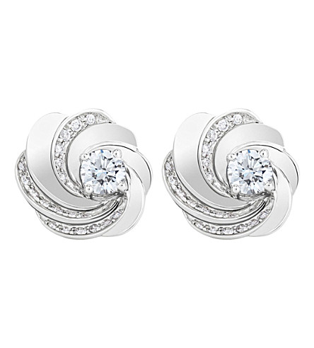 DE BEERS Aria white-gold and diamond earrings