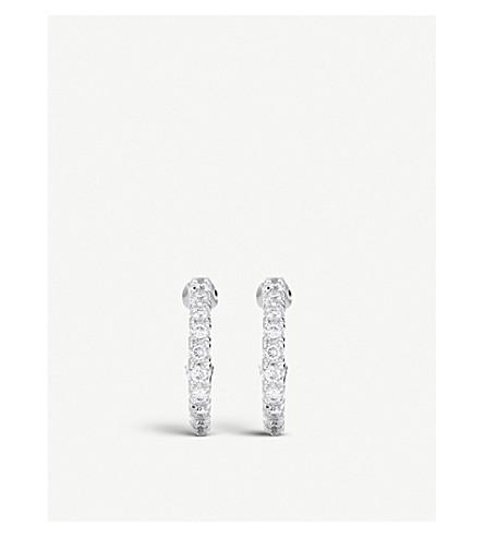 DE BEERS 密18ct 白金钻石耳环