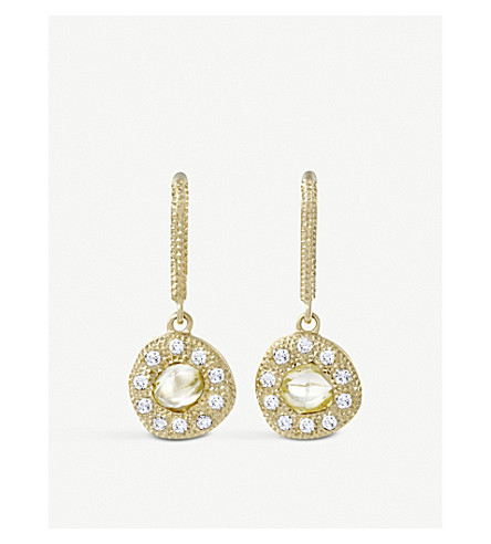 DE BEERS Talisman 18ct yellow-gold and diamond earrings