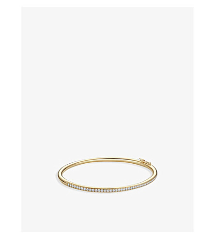 DE BEERS Micropavé 18ct yellow-gold and diamond bangle