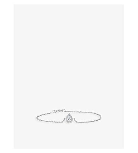 DE BEERS My First De Beers Aura pear-cut white gold diamond bracelet
