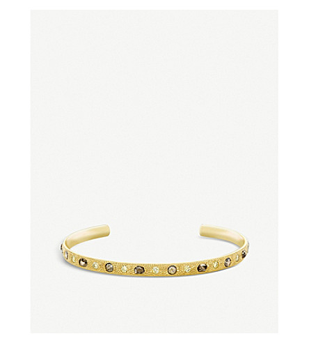 DE BEERS Talisman 18ct yellow-gold and diamond open bangle