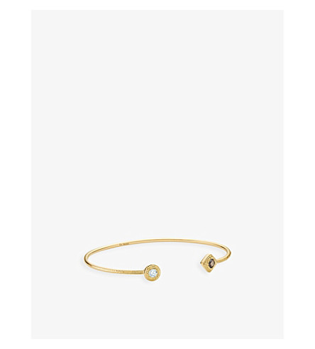 DE BEERS Talisman 18ct yellow-gold and diamond bangle