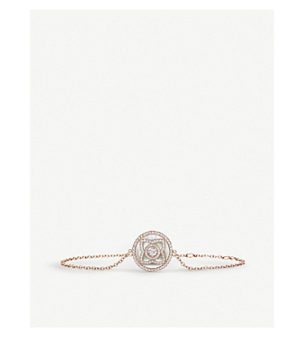 DE BEERS Enchanted Lotus 18ct rose-gold, diamond and mother-of-pearl bracelet