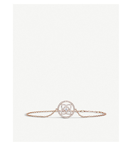 DE BEERS Enchanted Lotus 18ct rose-gold and diamond bracelet