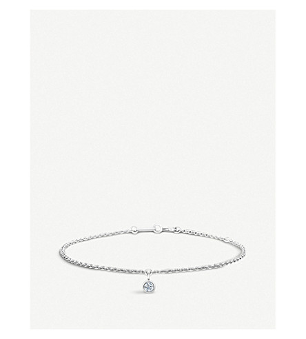 DE BEERS Dewdrop 18ct white-gold and diamond bracelet