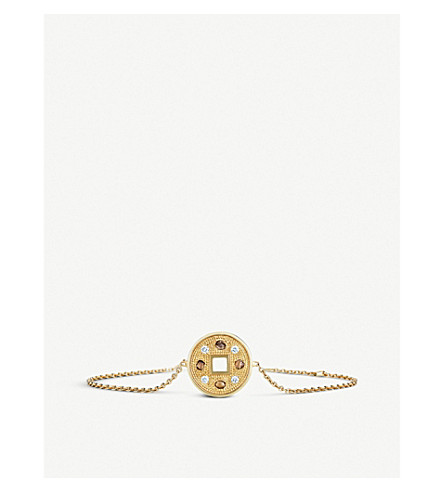 DE BEERS Talisman Lucky Coin 18ct yellow-gold and diamond bracelet