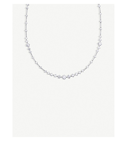 DE BEERS Arpeggia One-Line 18ct white-gold and diamond necklace