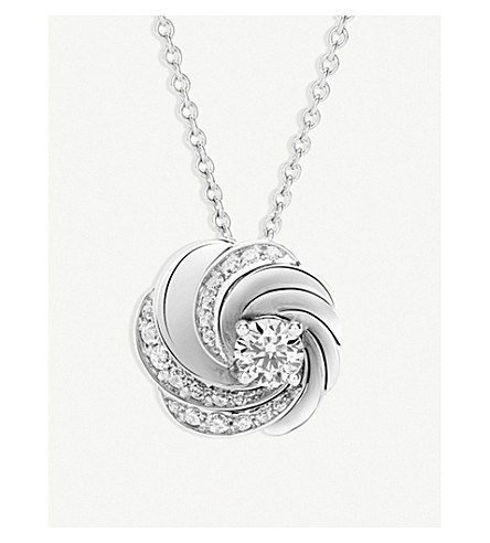 DE BEERS Aria white-gold and diamond pendant