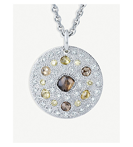 DE BEERS Talisman 18ct white-gold medallion
