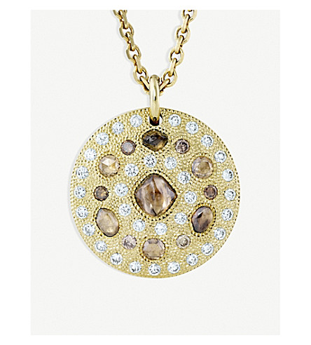 DE BEERS Talisman 18ct yellow-gold and diamond medallion
