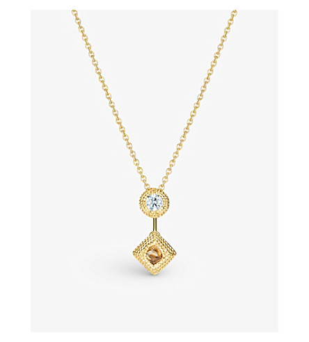 DE BEERS Talisman yellow-gold and diamond pendant