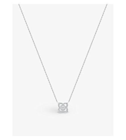 DE BEERS 魔法莲花18ct 白金钻石吊坠