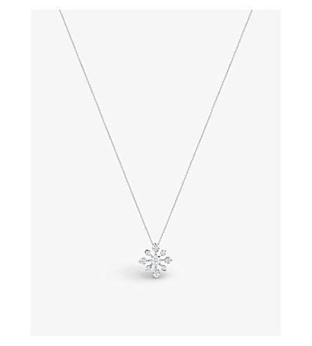 DE BEERS Star 18ct white-gold and diamond pendant