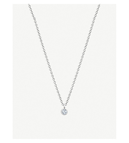 DE BEERS Dewdrop 18ct white-gold and diamond necklace